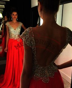 Sexy+Backless+Prom+Dresses,V+Neck+Long+Prom+Dresses+2016+Sparkly+Beaded+Top+Chiffon+Evening+Dresses+Party+Gown+Party+Dresses ***when+you+order+please+tell+me+your+phone+number+for+shipping+needs+.(this+is+very+important+)+ 1,+if+you+need+customize+the+dress+color+and+size+please+note+me+your+...