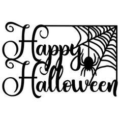Silhouette Design Store: Happy Halloween With Bats Halloween Stencils, Halloween Vinyl, Halloween Fonts, Halloween Silhouettes, Halloween Clipart, Halloween Signs, Halloween Cards, Halloween Templates, Halloween Phrases