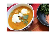 Calories: 220 Men's extra: 1 poppadum cals) A tasty, filling soup. Make the day before if possible – or perhaps make a double batch to eat on the second fast day of the week? Vegan Side Dishes, Vegetable Side Dishes, Vegan Vegetarian, Vegetarian Recipes, Healthy Recipes, Uk Recipes, Fast Day, Vegan Lunches, Vegan Meals