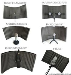 Soundkitz - Recording Studio Vocal Booth Sound Isolation and Reflection Filter Home Recording Studio Setup, Home Studio Setup, Studio Desk, Studio Foam, Audio Studio, Music Studio Room, Sound Studio, Home Music Rooms, Studio Equipment