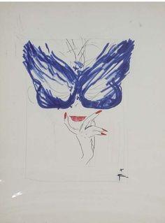 'blue mask' rene gruau