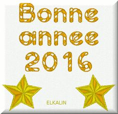 Bonne année 2016,broderie 3. - Elkalin.Couture,broderie main machine