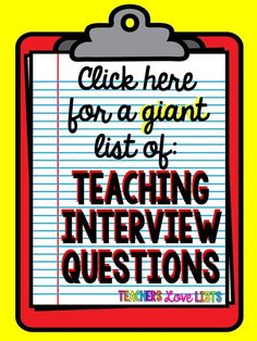 Great tips for how to be prepared for your teaching interview. a must read for any teacher going to an interview! Huge list of teaching interview questions to prepare for! Teaching Interview Questions, Teacher Job Interview, Teacher Interviews, School Interview, Interview Tips For Teachers, Interview Nails, Job Interviews, Teaching Resume, Teaching Career