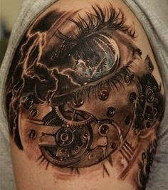 The steampunk aesthetic has become increasingly popular in recent years. Based on a subgenre of fantasy and science fiction that revolved around the 19th-century industrial revolution, steampunk designs typically incorporate elements of the steam-powered machinery that was characteristic of the time, along with that era's visions of the future. From gears to balloons to aviator goggles, these amazing tattoos incorporate some of the most popular steampunk imagery.