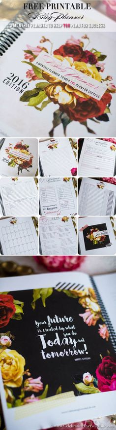 2016 Free Blog Planner Printable, Tips to have a successful blog!