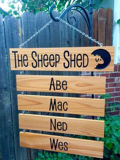The Sheep Shed sign or Custom Title board with Drop Down Name Mini Goats, Cute Goats, Shed Signs, Barn Signs, Sheep Names, Goat Shed, Farm Name, Goat House, Goat Barn