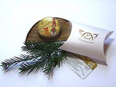 Super süßer Glücksstein 'Weihnachtswichtel'. Für Euch gefunden bei www.vivlianna-art.de und auf Amazon Handmade.