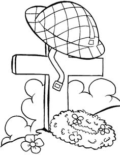 The Tomb Of One Of The Nation's Heroes Coloring Pages - Remembrance day Coloring Pages : KidsDrawing – Free Coloring Pages Online