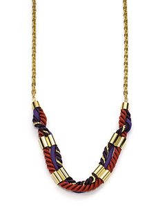 A.V. MAX - Long Cord & Chain Necklace/Burgundy - Saks.com