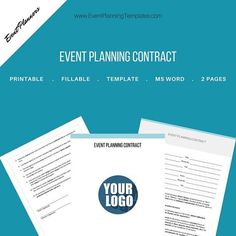 Simple Event Planning Contract for Event and Wedding Planners