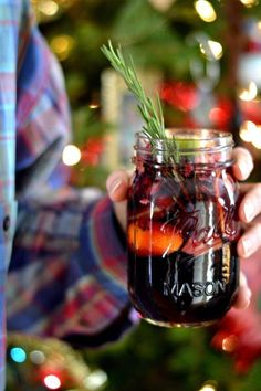 Here's another wintery update on sangria, featuring cran-apple cider, pomegranate seeds and clementines. It's best consumed from a Mason jar while wearing a plaid flannel shirt. Get the recipe from Bakeaholic Mama »