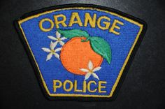 Orange Police Patch, Orange County, California (Vintage)