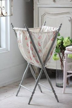 Laundry Cart - this is so cute for a little girls room, wonder if I could diy?