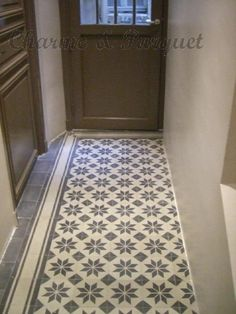 1000 images about 1 ciment tile carreaux de ciment on - Separation parquet carrelage ...