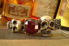Vintage Punk Style #Skull Ring  samples - http://www.dhgate.com/promotion-fashion-vintage-punk-skull-rings/p-ff808081337d742e013381d460c24214.html