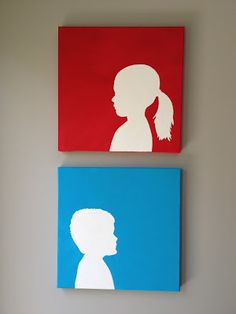 The Eco-Cheap Mom: DIY Canvas Silhouettes