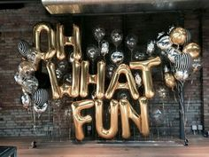 We can get your name spelled out in gold balloons from Amazon