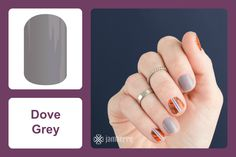 'Dove Grey' takes neutral to the next level with the kind of shade that will make your nails take flight. #bevsjamminnails https://bkimball.jamberry.com/us/en/shop/products/dove-grey#.Vxe94PkrJQI