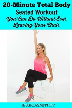 You can do this 20 minute total body workout without ever leaving your chair! Exercise at the office? Dealing with an injury? This may be the fitness routine you need!