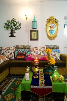 Colorful Indian Home Indian Interiors, Colorful Interiors, Colorful Decor, Ethnic Decor, Indian Living Rooms, Bohemian Living Rooms, Bohemian House, Indian Home Decor, Indian Decoration
