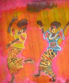 African dancers Challah cover by rivkasari on Etsy, $40.00  www,rivkasari.com
