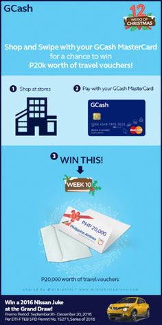 GCash MasterCard Shop and Fly with Philippine Airlines and win a travel voucher worth P20,000 --- https://miniphilippines.wordpress.com/2016/12/04/gcash-mastercard-shop-and-fly-with-philippine-airlines-worth-p20000-in-this-12-weeks-of-christmas/