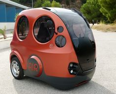 The air-powered car, a project of Tata Motors and Motor Development International.