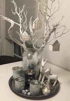 Toma nota de estas composiciones navideñas en vasos altos que harán que tu casa luzca de revista… | Ocho Cachorros