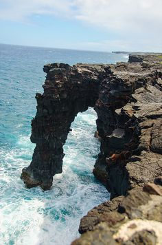 Sea Arch at Hawaii Volcanoes National Park on The Big Island of Hawaii
