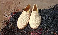 accessory: Boho Shoes Uniquely handmade by artisans using Rafia fibers and Shoe soles. Crafted by The Leather and Rafia Co-op from Essaouira, Morocco. Qty: 1