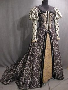 Tudor gown. Brocade