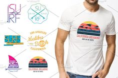 409dc0b81 Set of prints for t-shirts by Magic Shop on @creativemarket Business  Brochure,