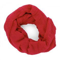Lightweight Infinity Scarf  - Red