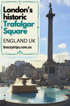 London's historic Trafalgar Square - Any visit to the magnificent city of London has to include spending time at Trafalgar Square, one of the world's most iconic squares. Being the largest square in the city and one of the busiest areas, it's a popular tourist attraction to hang out, people watch, and visit some of London's historic monuments. It's also where you will see the famous red double decker buses constantly whizzing around. #trafalgarsquare #londonsquare #londonsites #londonblog London Tours, London Travel, London City, Europe Travel Tips, Travel Guides, Travel Destinations, Travel Uk, London Square, Sightseeing Bus