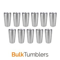 Save money on shipping and always have blanks in stock to keep you customers happy by purchasing your tumblers by the case.