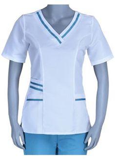 conjunto de chaqueta y pantalon para doctores - Buscar con Google Spa Uniform, Scrubs Uniform, Nurse Scrubs, Uniform Ideas, Staff Uniforms, Medical Uniforms, Bloom Fashion, Nursing Clothes, African Dress