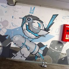 Wip again. #bird #ballbird #painting #spraypaint #wall #monsta #worldofmonsta