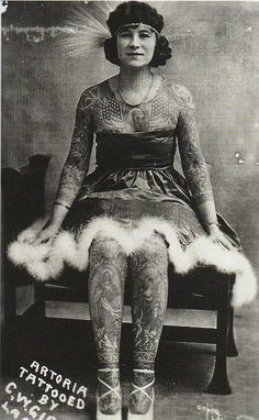 Artoria Gibbons, tattooed lady, tattoos