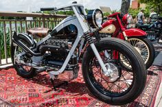 Gotta love a guy who'll trick out a 1950 exposed valve Nimbus! Classic Bikes, Motorcycle Bike, Custom Bikes, Bobber, Cars And Motorcycles, Motorbikes, Old School, Eugene Atget, Wings
