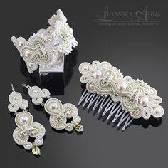 Anna Lipowska LiAnna www. Baby Jewelry, Bridal Jewelry, Beaded Jewelry, Fine Jewelry, Jewelry Necklaces, Jewelry Making, Couture Accessories, Craft Accessories, Hair Accessories