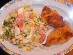 Isa's Welt : Rezept: Putensteak Curry mit gemischtem Salat auf ...