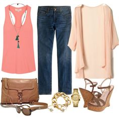 """""""Just Peachy!"""" by fiftynotfrumpy on Polyvore"""