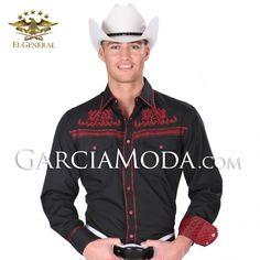 Camisa El General Western Wear 34242GM Black #ropavaquera #grupero #norteño #westernwear #cowboy
