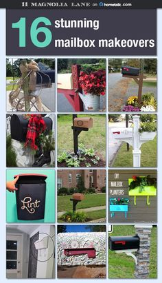 16 stunning mailbox makeovers--great ideas to rehab your mailbox for spring on Mailbox Garden, Diy Mailbox, Mailbox Landscaping, Mailbox Ideas, Outdoor Projects, Garden Projects, Diy Projects, Outdoor Decor, Outdoor Stuff