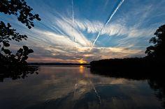 Sunset over lake Seeburg // Eichsfeld