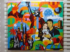 Disney, New York and Rio inspire the canvas art.  Disney, Art, Pop Art, Canvas Painting, New York, Painting
