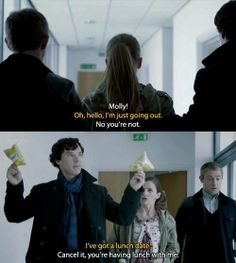 Lunch with Sherlock = crisps... That'll do, Sherlock. That'll do.