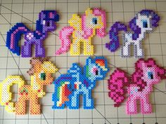 My Little Pony Bead Sprite Set  Mane Six by ToughTurtles on Etsy, $20.00