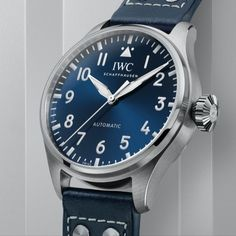 *Blog Update - Read iN!* #IWC 43mm Big Pilot's Watch 43✈️⌚️ Available iN Black or Blue with a Leather Strap or Steel Bracelet…🎉