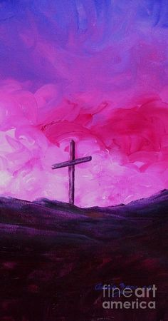 Cross of Jesus Christ II Painting  - Cross of Jesus Christ II Fine Art Print- I would like this if different colors maybe